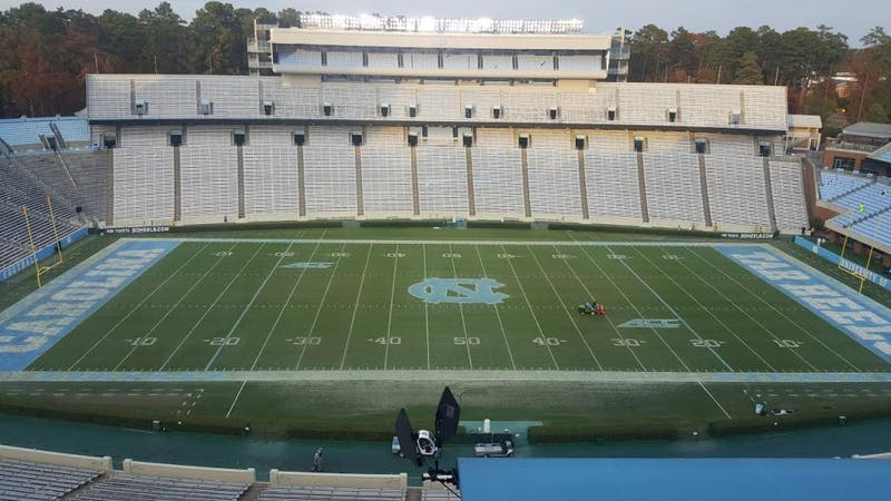Kenan Stadium will not be switching to a turf field but will instead keep the current grass surface.