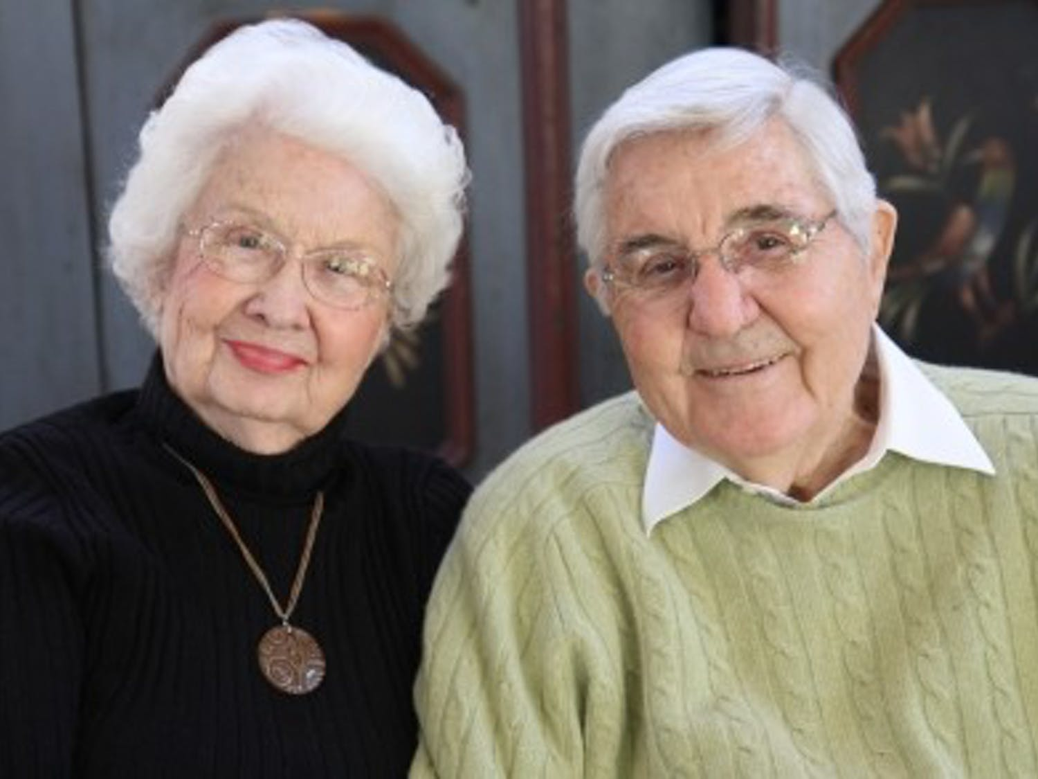 Bill Friday has died. He is pictured here with his wife, Ida, in the spring of 2010.