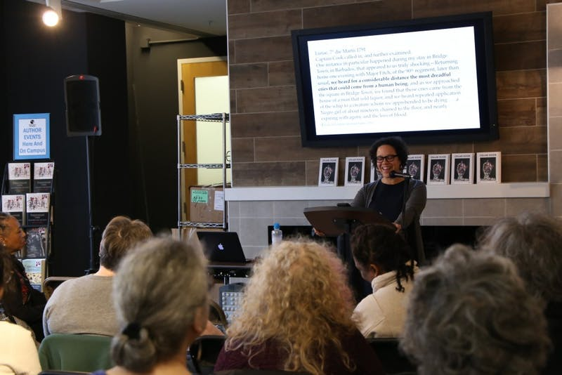 Marisa J. Fuentes, associate professor of women's and gender studies and history at Rutgers University-New Brunswick discusses her book Dispossessed Lives: Enslaved Women, Violence, and the Archive at Bull's Head Bookshop on March 8.