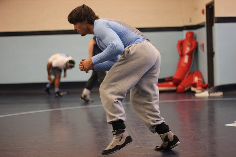 Ethan Ramos is a redshirt junior is a top wrestler for UNC and earned All-American honors during the 2014-15 season.