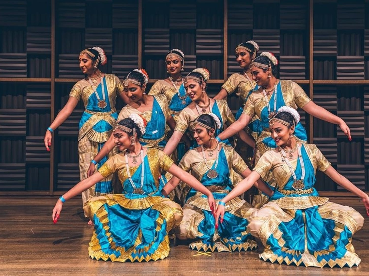 Ek Taal is a competitive Indian classical dance team at UNC. Photo courtesy of Sai Conjeevaram.