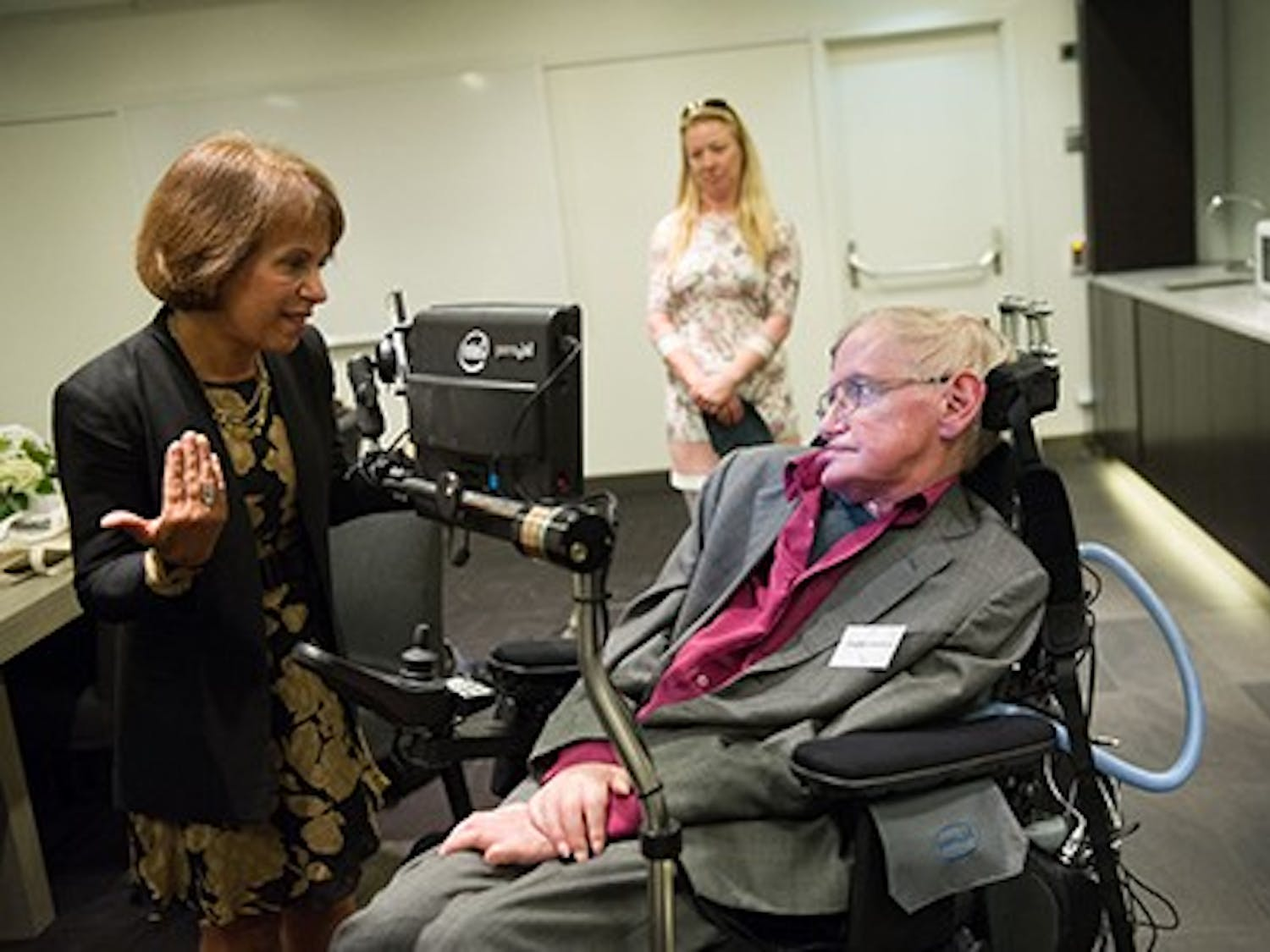 2015 August 24:th  Stephen Hawking Lecture in Waterfront StockholmCopyright: Photographer Ulf Sirborn, Box 38081, 100 64 Stockholm, Sweden,phone +46 720461654, e-mail:ulf.sirborn@brevet.nu