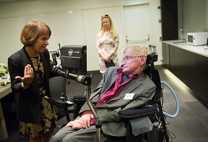 2015 August 24:th  Stephen Hawking Lecture in Waterfront StockholmCopyright: Photographer Ulf Sirborn, Box 38081, 100 64 Stockholm, Sweden, phone  46 720461654, e-mail:ulf.sirborn@brevet.nu