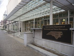 The N.C. Department of Environment and Natural Resources building pictured on March 30, 2020 in downtown Raleigh. Various environmental agencies have faced budget cuts and fewer staff members over the past few years.