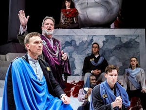 """PlayMakers Repertory Company has canceled all productions and other public-facing operations for the remainder of the 2019-2020 season, including the final week and a half of performances of """"Julius Caesar."""" Photo courtesy of HuthPhoto."""