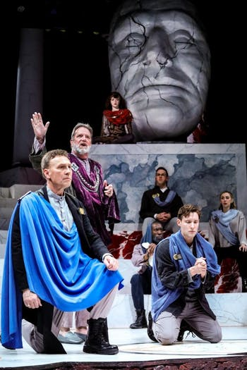 "PlayMakers Repertory Company has canceled all productions and other public-facing operations for the remainder of the 2019-2020 season, including the final week and a half of performances of ""Julius Caesar."" Photo courtesy of HuthPhoto."