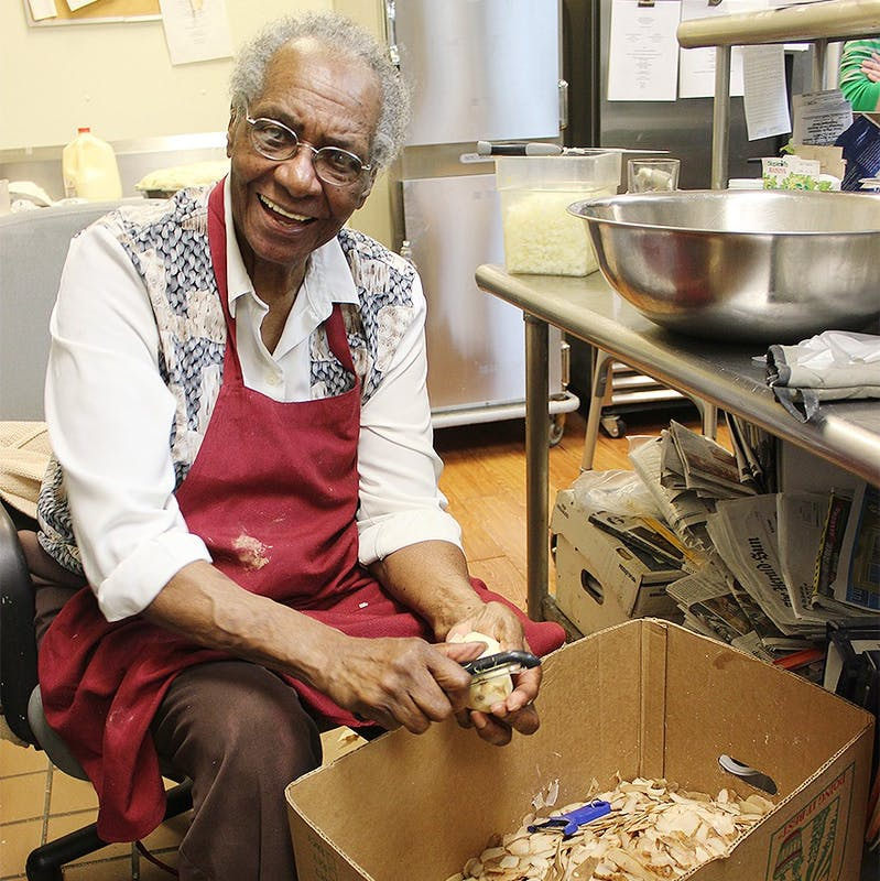 """Mildred Council, the true """"Mama Dip,"""" was awarded a place in the Chapel Hill-Carrboro Chamber of Commerce Hall of Fame for her influential presence in the community. DTH/Phoebe Jollay-Castelblanco"""