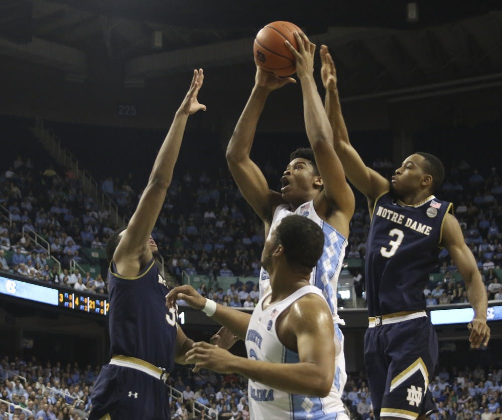 6 UNC players scored in double figures in 83-76 win over Notre Dame