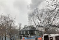 The Chapel Hill Fire Department responded to the report of a structure fire in the attic of 111 Parkside Circle in Southern Village at 3:04 p.m. Sunday, Feb. 17, 2019.  Photo by @krgpryal via Twitter