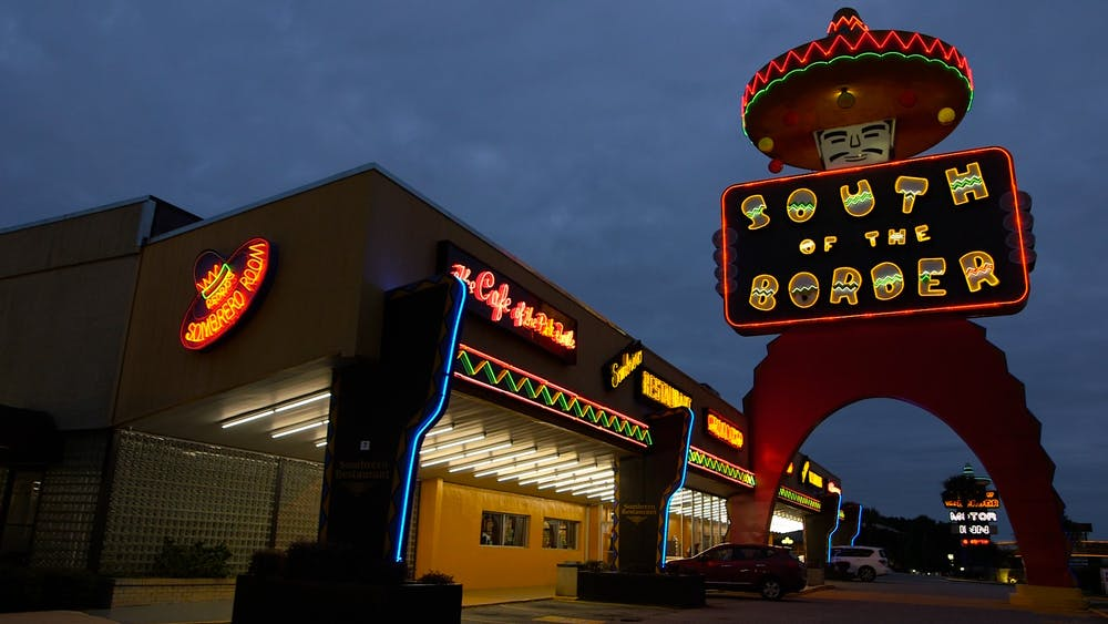 "South of the Border's welcome sign, known as ""The Big Fellah."" Photo courtesy of Julianna Villarosa and Derek Torres."