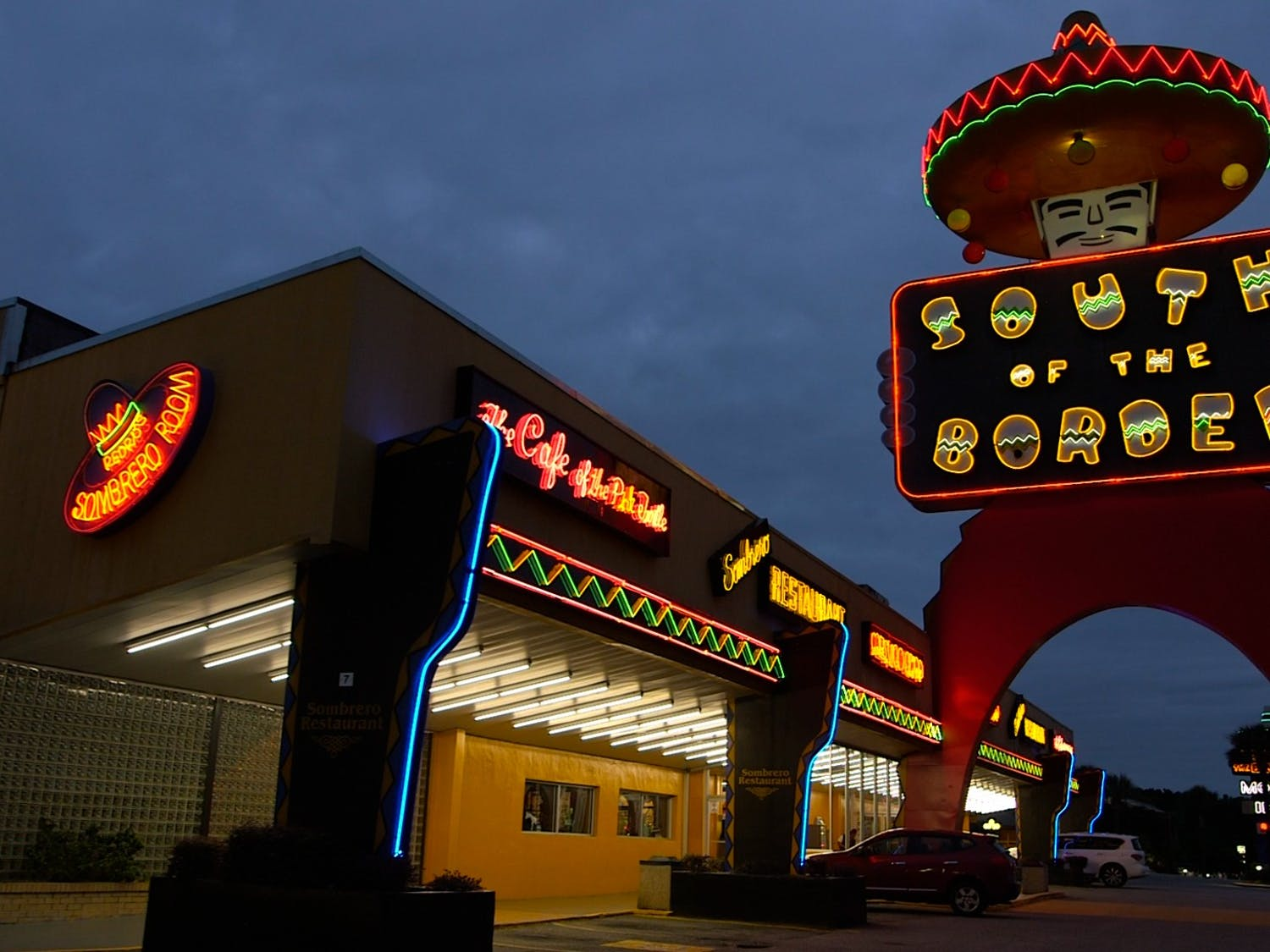 """South of the Border's welcome sign, known as """"The Big Fellah."""" Photo courtesy of Julianna Villarosa and Derek Torres."""