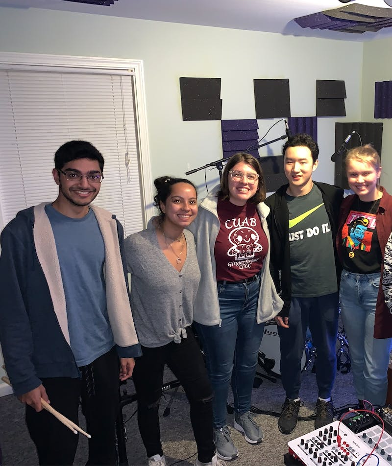 Carolina House Band, a student organization created in fall 2019, invites musicians who play instruments from any genre to perform on campus and in the Chapel Hill community. Photo courtesy of Olivia Zitkus.