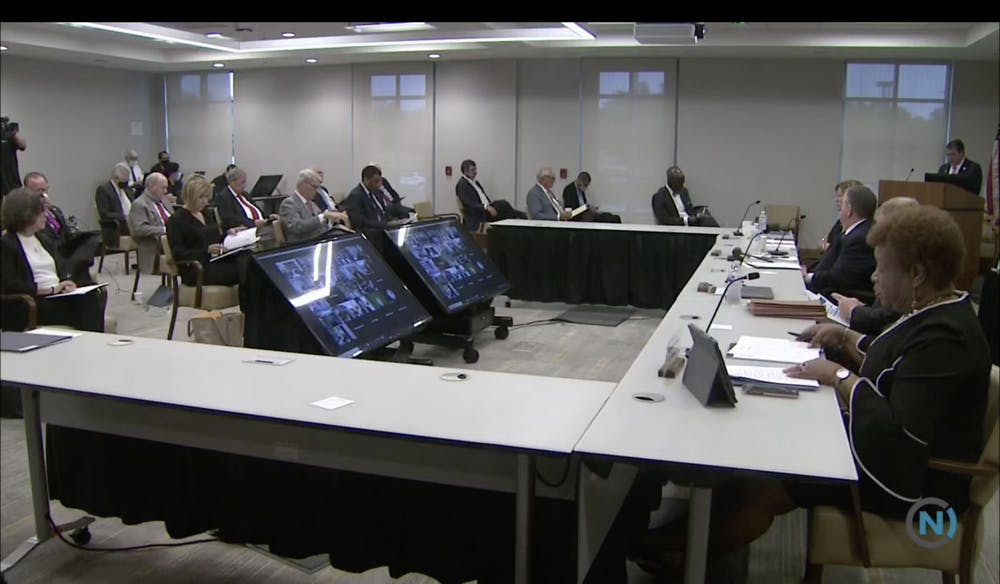<p>Members of the UNC Board of Governors met in person and via Zoom on Thursday, Sept. 17, 2020.</p>