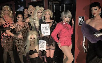 RuPaul's Drag Race fan favorites, winners, and runners-up toured in Charlotte and Durham despite the HB2 controversy (courtesy of  rupaulbots).