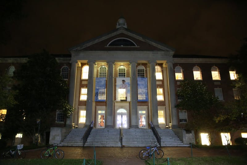 Carroll Hall houses UNC's School of Media and Journalism.