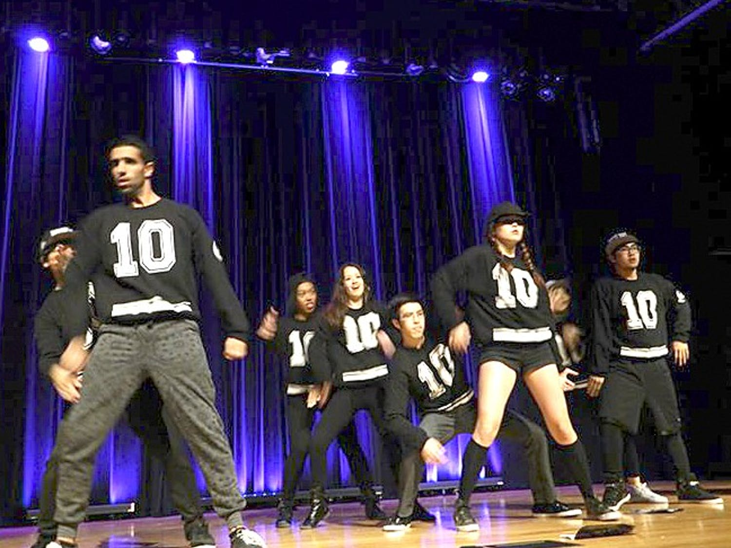 The UNC Moonlight Hip Hop Dance Crew frequently performs on Friday evenings in the Pit. Courtesy of Kaitlin Barker.