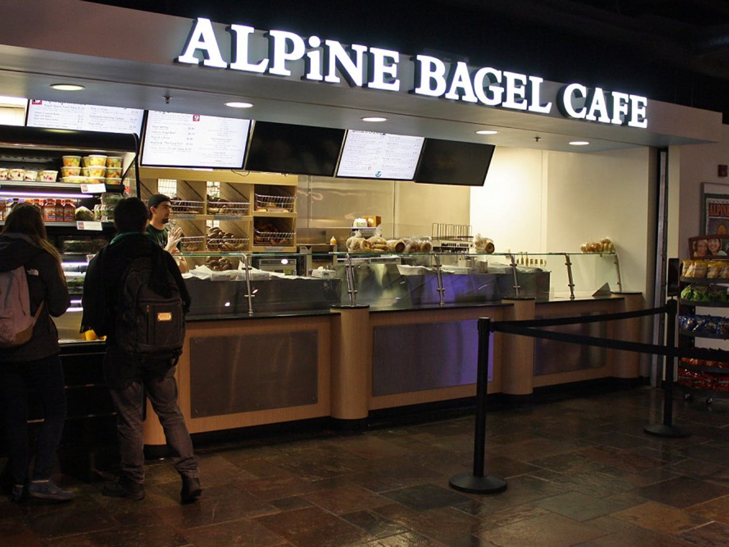 Alpine Bagel Cafe, a popular food stop in the Student Union, was renovated over break.