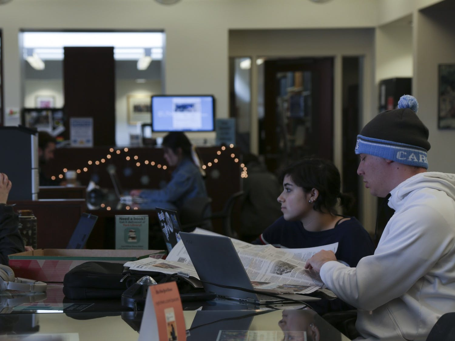 UNC-Chapel Hill students prepare for exams in Park Library on Dec, 3, 2019.