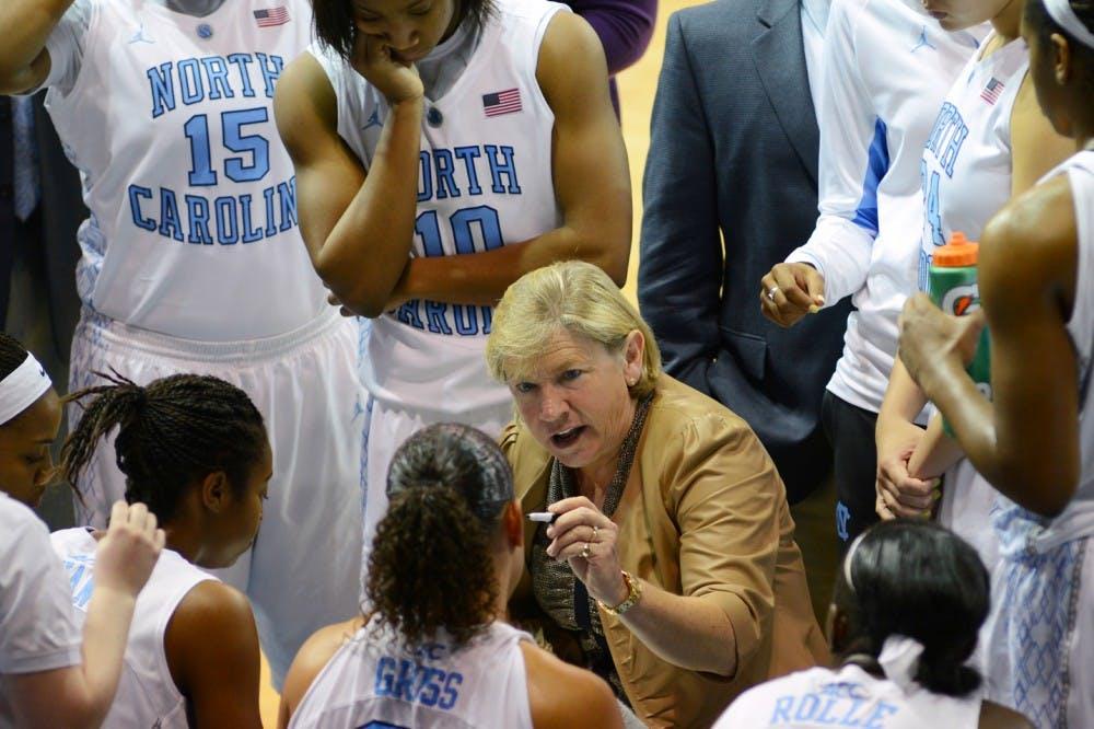 Sylvia Hatchell coaches UNC from afar