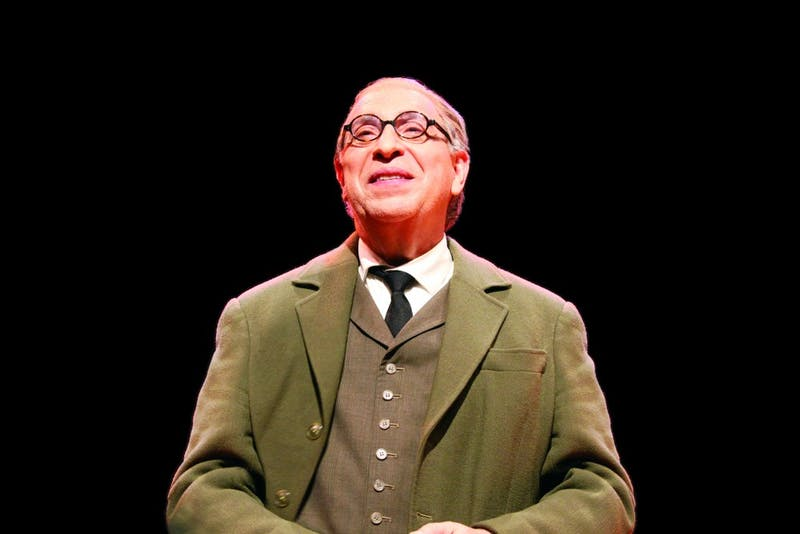 Actor Max McLean playing C.S. Lewis during a performance. Photo courtesy of Courtney Menking.