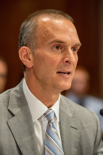 Travis T. Tygart at the Helsinki Commission Hearing in Washington D.C. on Friday, July 27, 2018. Photo courtesy of Adam Woullard.