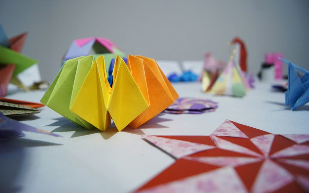 Children create Japanese crafts at the Ackland Art Museum in celebration of Bunka-no-hi (Culture Day) in Japan.