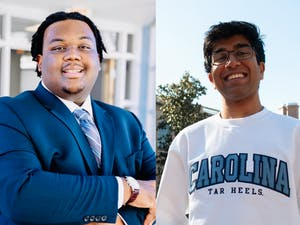 Student Body President candidates Lamar Richards (left) and Keshav Javadi (right). Photo of Richards courtesy of Hanna Wondmagegn. Photo of Javadi by Caroline Bittenbender.