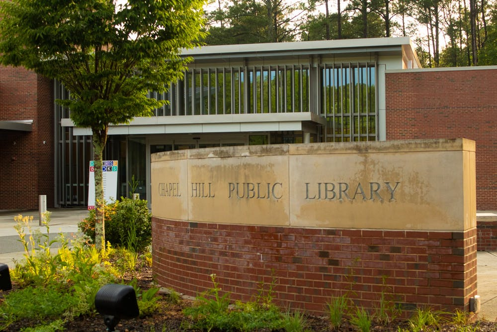 <p>The new video series called Tracks in the Stacks was filmed inside the Chapel Hill Public Library.&nbsp;</p>