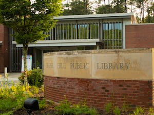 The new video series called Tracks in the Stacks was filmed inside the Chapel Hill Public Library.