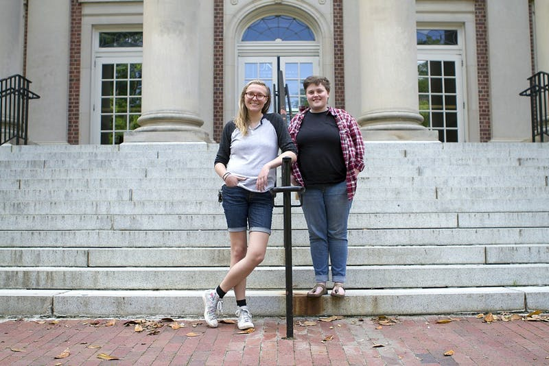 Sophomore political science majorHannah Hodge (right)started dating their partner Jen soon after starting at UNC.