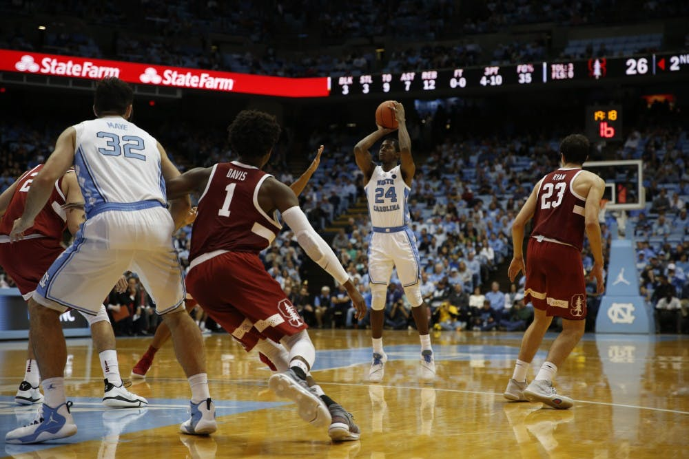 Kenny Williams finds his shooting touch, UNC men's basketball defeats Stanford, 90-72