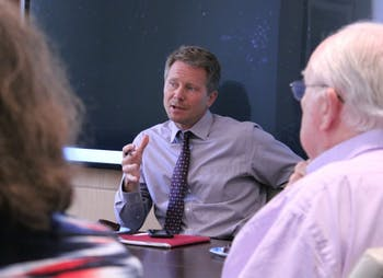 Dean of the College of Arts and Sciences Kevin Guskiewicz and the Faculty Executive Committee discussed increasing interdisciplinarity in a June 2016 meeting.