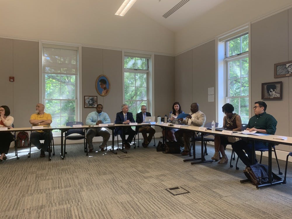 <p>The Campus Safety Commission meeting in April 2019 in South Building&nbsp;</p>