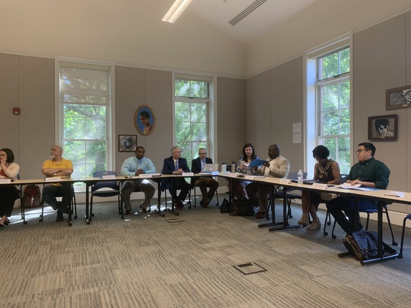 The Campus Safety Commission meeting in April 2019 in South Building