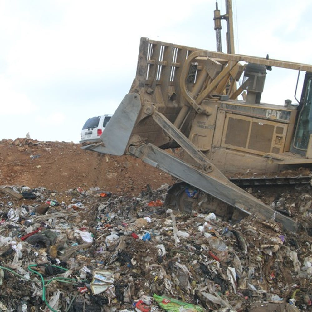 <p>With the Orange County landfill closing at the end of June, trash will be temporarily moved to a transfer station in Durham.</p>