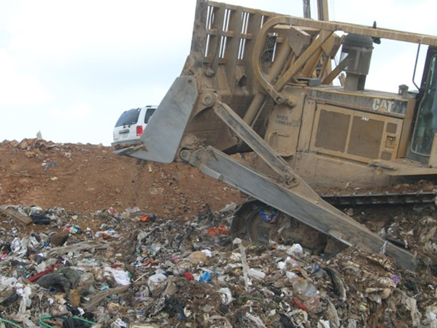 With the Orange County landfill closing at the end of June, trash will be temporarily moved to a transfer station in Durham.