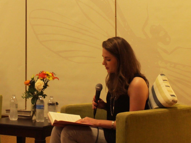 "Melanie L. Rio, a UNC-CH alum, presenting her book ""If We Were Villains"" at Flyleaf bookstore."