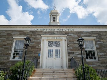The United States Post office building located off King Street in Boone. Photo courtesy of Jesse Barber.