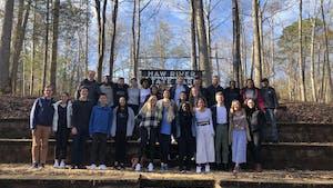 Senior Robertson Scholars at their weekend senior capstone retreat. Photo by Alaina Watkins, courtesy of Kay-Frances Brody.
