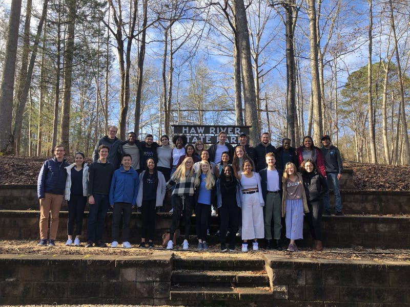 Senior Robertson Scholars at their weekend senior capstone retreat. Photo by Alaina Watkins, courtesy of Kay-Frances Brody.