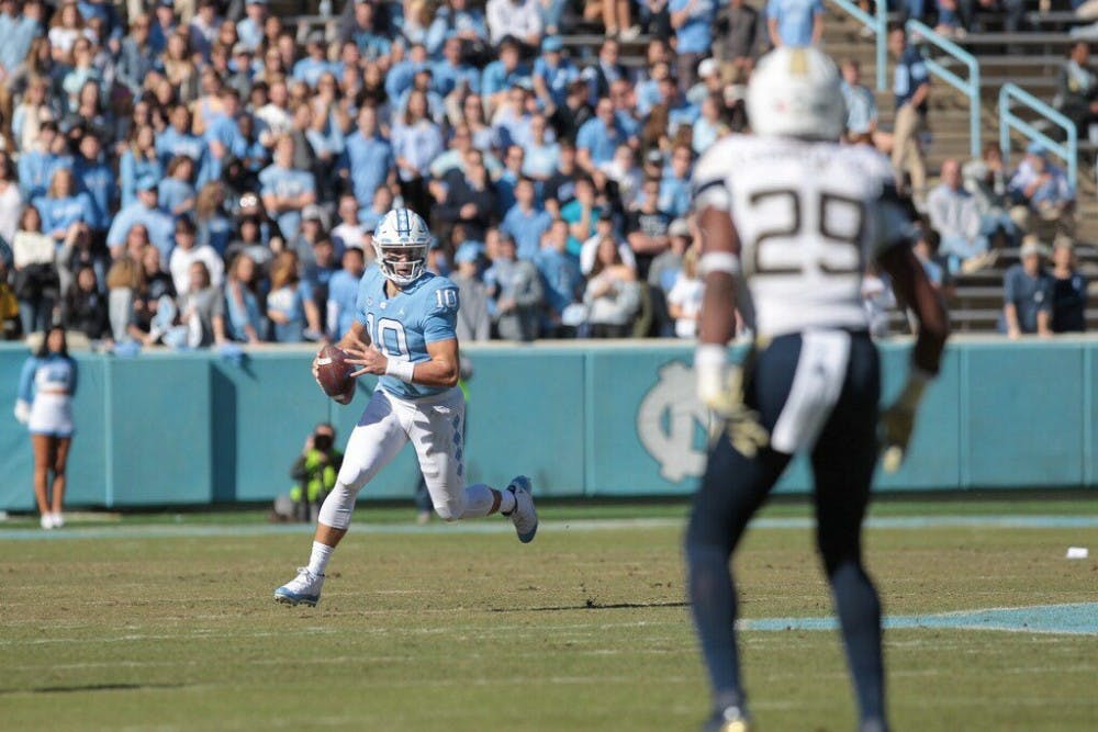 UNC football falls to Georgia Tech, 38-28, in Homecoming Weekend contest