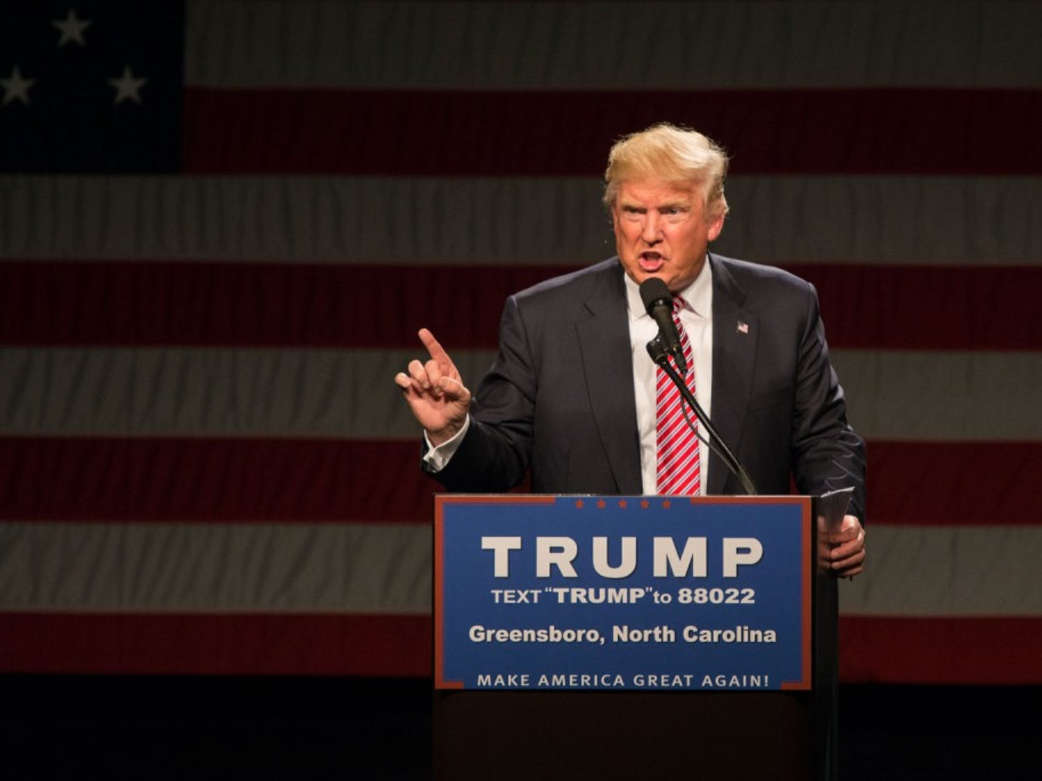 Donald Trump held a rally in the Greensboro Coliseum on Tuesday, June 14th.