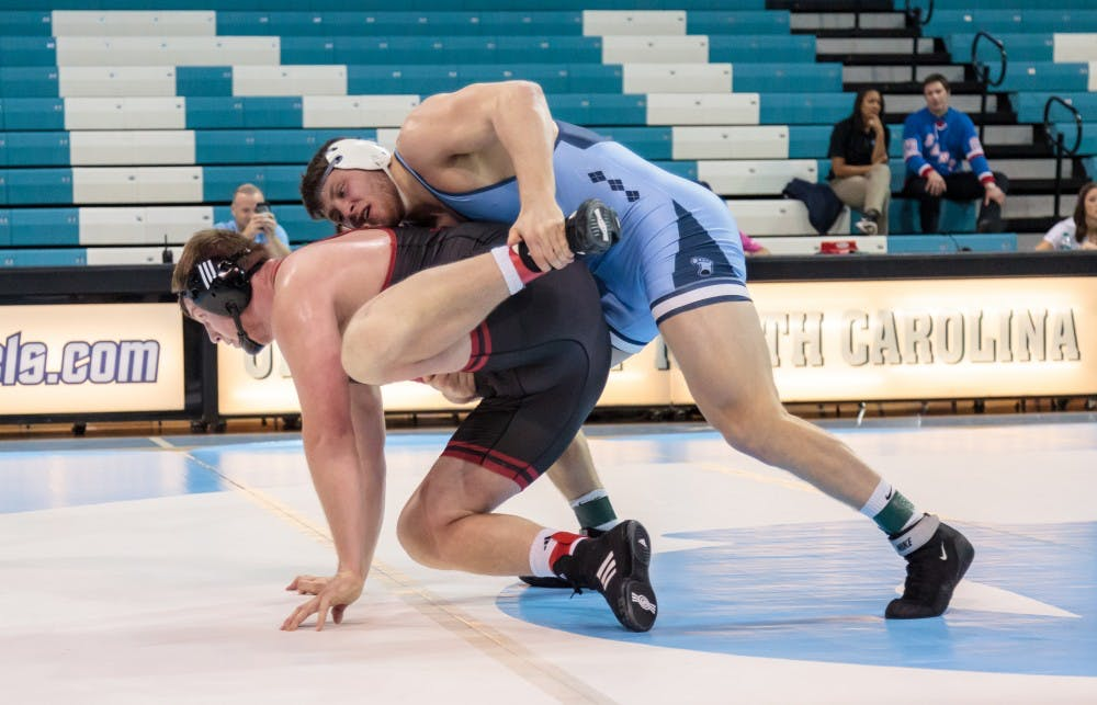 No. 15 UNC wrestling falls to No. 25 Princeton in New Jersey, 23-16