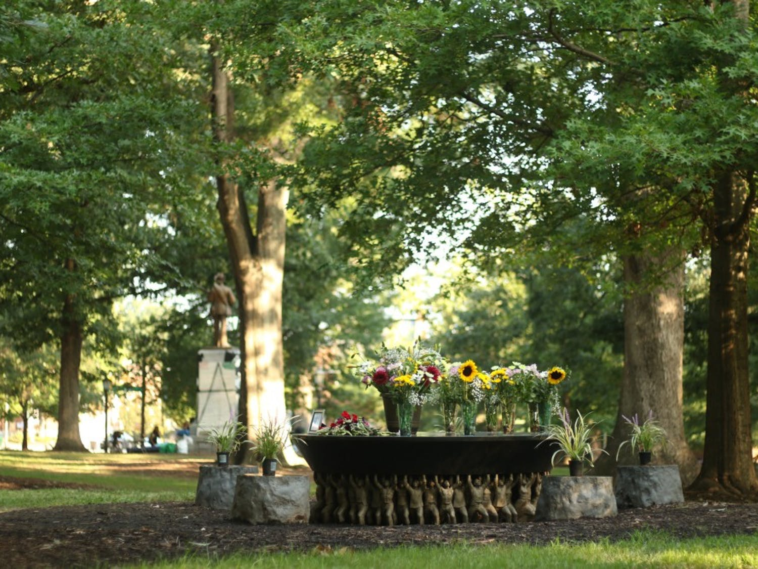 The Unsung Founders Memorial was a subject of debate earlier this year, 2017, during the Silent Sam sit-in.