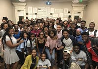"Members of the Black Student Movement after a ""Battle of the Sexes"" event that had a turnout of over 70 people. Photo courtesy of Alex Robinson."