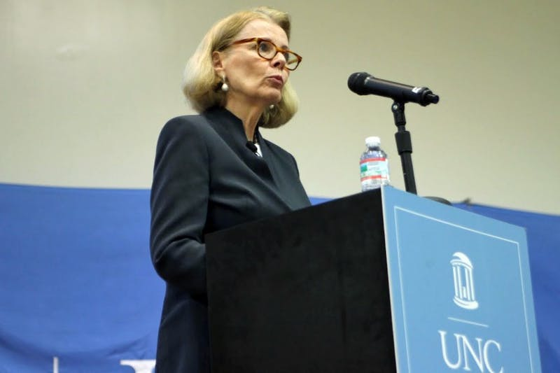 Peggy Noonan, celebrated author and Wall Street Journal columnist, spoke at the 2015 Park Lecture in Carroll Hall on Thursday.