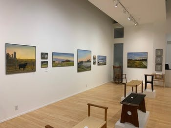 FRANK's gallery for March and April displays the work of painters Nerys Levy and Carroll Lassiter as well as furniture maker John Parkinson. Although FRANK is closed, it has put this exhibit onto their website for a virtual gallery experience. Photo courtesy of Natalie Knox.