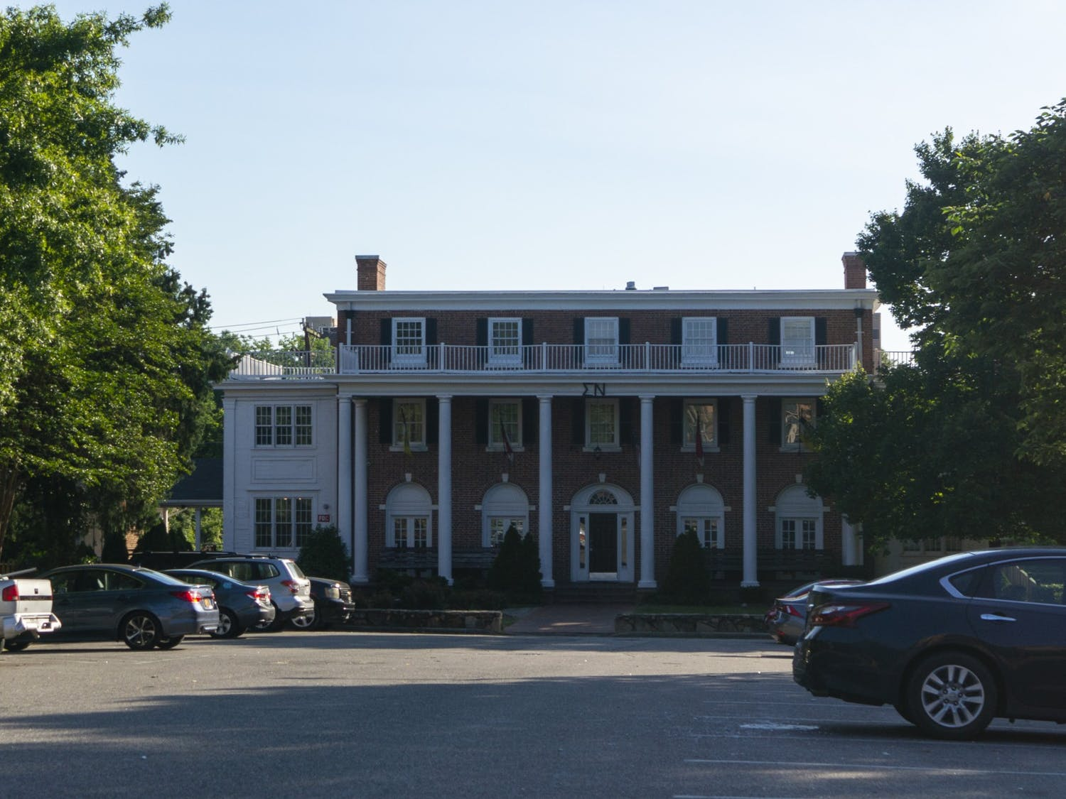 UNC's Sigma Nu fraternity house as pictured on Sunday, June 7, 2020.