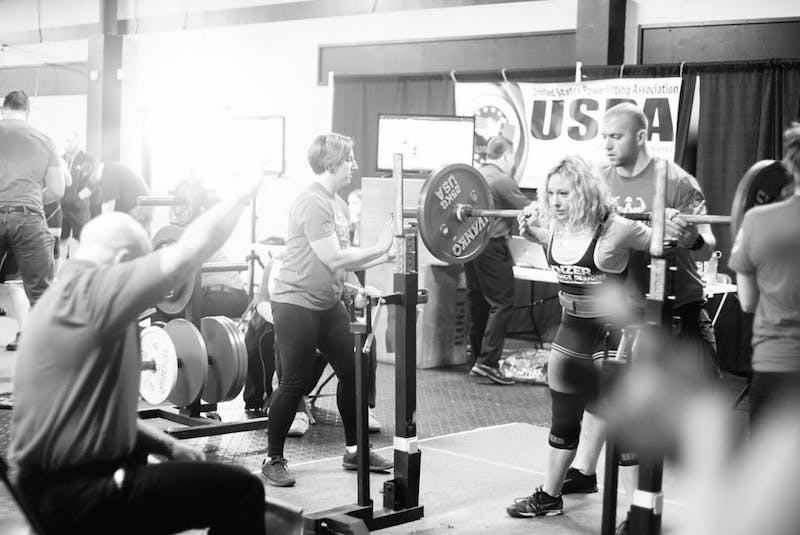 Junior economics major April Purvis spends her free time training and weightlifting as a body builder. Photo courtesy of April Purvis.
