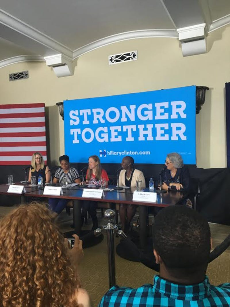 Chelsea Clinton visited Wake Forest University and Carrboro to kick off voter registration and to discuss North Carolina education plans.Photo courtesy of Sydney Feinglass.